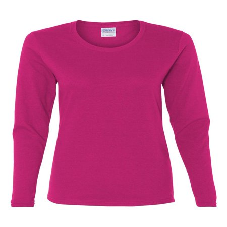 Hanes Women T-shirts (Gildan - Heavy Cotton Women's Long Sleeve T-Shirt - 5400L)