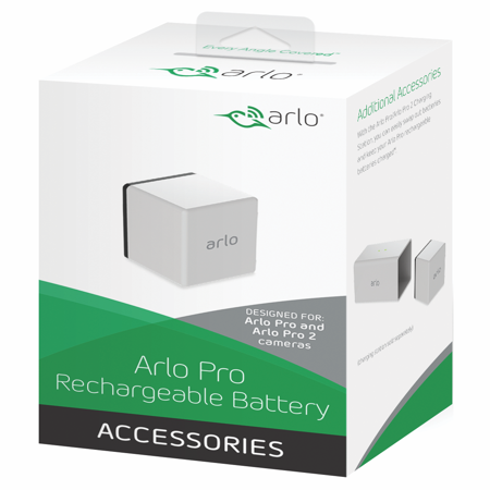 Arlo Pro Rechargeable Battery VMA4400 - includes power cable and adapter, for Arlo Pro/Pro 2 Wire-Free Security Camera System