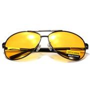 9bfed5fb26c Fashion Men UV400 Yellow Lens Polarized Anti-Glare Night Vision Sunglasses  Car Driving Eyeglasses