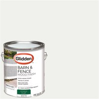 Glidden Grab-N-Go Barn & Fence, Exterior Paint, White, Flat Finish, 1 Gallon