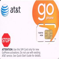 AT&T Wireless GOPhone SIM Card 3G, 2G / Edge