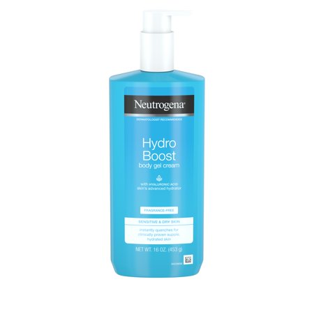 Neutrogena Hydro Boost Body Gel Cream, Fragrance-Free, 16 oz (Free 16 Oz Body Emulsion)