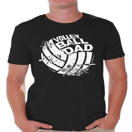Vintage Sport Shirt (Awkward Styles Men's Volleyball Dad Graphic T-shirt Tops Vintage Father`s Day Gift for Sport)