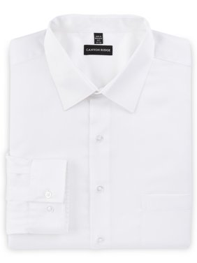 Canyon Ridge Big Men's Long Sleeve Solid Sateen Wrinkle Resistant Dress Shirt, up to 5XL