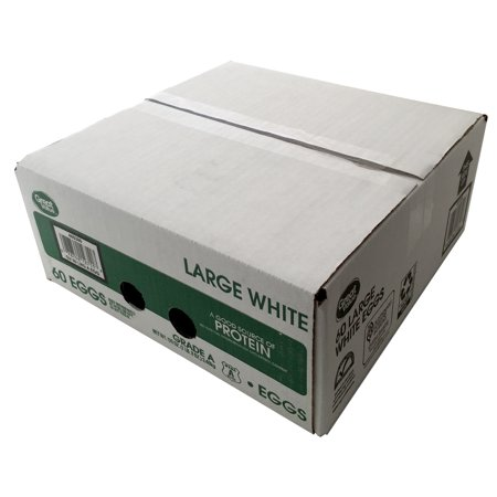 Great Value Large White Grade A Eggs 60 Count Walmart Com