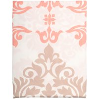Mainstays™ Coral Damask Fabric Shower Curtain