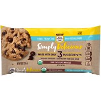 NESTLE TOLL HOUSE SIMPLY DELICIOUS Allergen-Free Dark Chocolate Morsels – Dark Chocolate Chips Made With Only Three Ingredients and Free From 8 Major Allergens, 9 oz. Bag