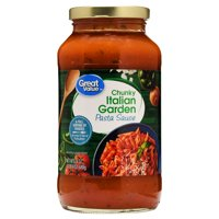 (6 Pack) Great Value Chunky Italian Garden Pasta Sauce, 24 oz
