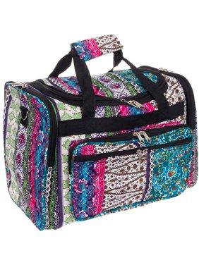 "Gen SH SILVERHOOKS NEW Bohemian 16"" Inch Duffel Carry-On Travel Gym Bag w/ Black Trim"