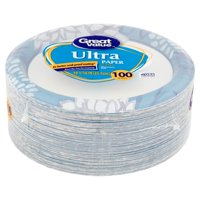 "Great Value Ultra Paper Dinner Plates, 10 1/16"", 100 Count"