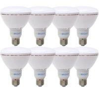 Viribright BR30 (8 Pack) LED Light Bulbs, 60+ Watt Replacement, 6000K+ Daylight, E26 Base, Dimmable