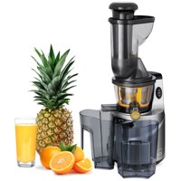 Best Choice Products 150W 60RPM Whole-Food Slow Masticating Juicer Extractor for Fruits, Vegetables w/ 3in Wide Feeder Chute, Juice/Pulp Jug, Drip-Free Cap, Safety Locking Arm, Cleaning Brush - Black