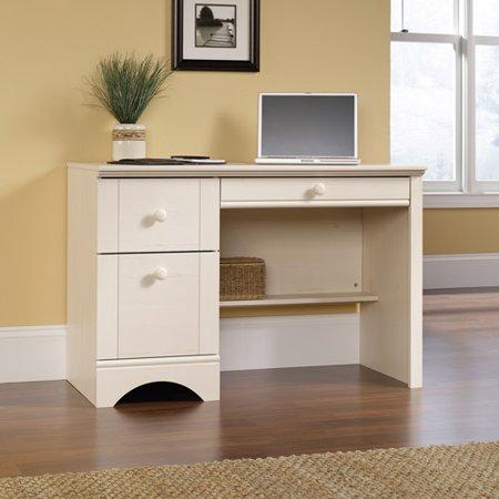 - Sauder Harbor View Computer Desk, Antiqued White Finish - Walmart.com