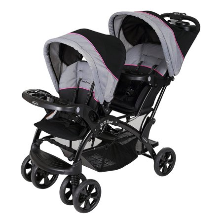 Stroller Fabric - Baby Trend Sit 'N Stand Double Stroller, Millennium Pink
