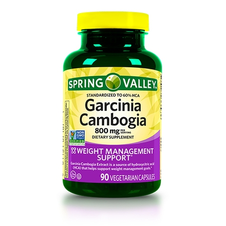 Spring Valley Garcinia Cambogia Capsules, 800 mg, 90 (Best Rated Garcinia Cambogia)
