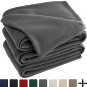 Polar Fleece Cozy Bed Blanket - Hypoallergenic Premium Poly-Fiber Yarns, Thermal, Lightweight Blanket (Full/Queen, Grey)