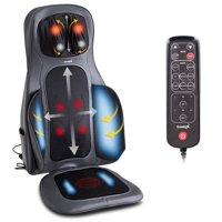 Gymax Shiatsu Neck & Back Massage Cushion Air Compression Heated Massager Chair Seat