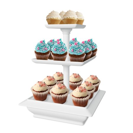 Chef Buddy 3 Tier Cupcake Dessert Stand Tray - 10 Different - Walmart Cupcake Stand