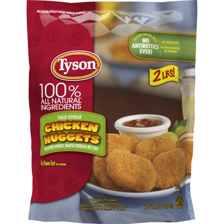 Tyson Fully Cooked Chicken Nuggets 32 Oz Frozen Walmart