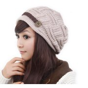 3a4f10a55ab PaZinger Women Knit Hat Crochet Knit Slouchy Beanie Beret Cap Winter Warm  Thick Slouchy Cable Knit