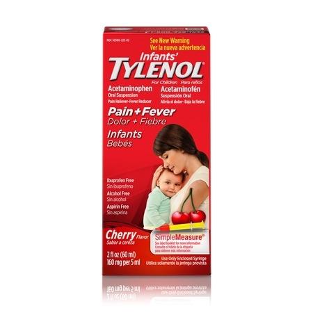 Infants' Tylenol Acetaminophen Liquid Medicine, Cherry, 2 fl.