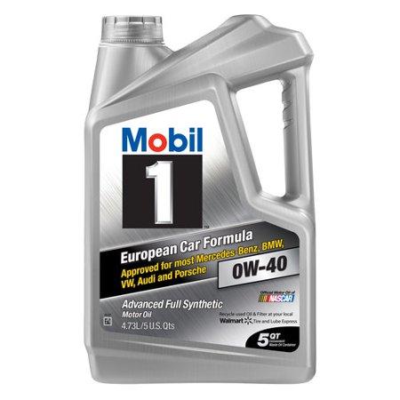 Mobil 1 0w 40 Advanced Full Synthetic Motor Oil 5 Qt Walmart Com