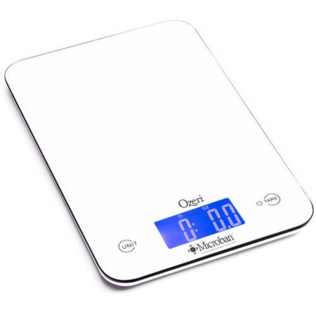 Red 18th Scale - Ozeri Touch II 18 Lb. Digital Kitchen Scale with Microban Antimicrobial Product Protection