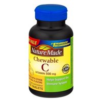 Nature Made Chewable Orange Vitamin C, 500mg Tablets, 70 count