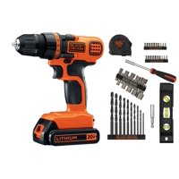 BLACK+DECKER 20-Volt MAX* Lithium-Ion Cordless Drill With 44-Piece Project Kit