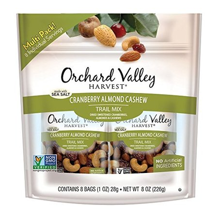 Orchard Valley Harvest Cranberry Almond Cashew Trail Mix 8-1 oz Bags