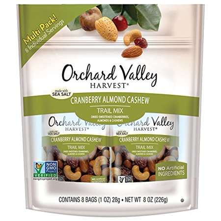 Orchard Valley Harvest Cranberry Almond Cashew Trail Mix 8-1 oz Bags - Trail Mix For Halloween