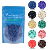 Yosoo 10 Flavors Hard Wax Beans Hot Film Depilatory Wax Bead Body Legs Hair Removal Wax 50g, Depilatory Hard Wax, Depilatory Wax