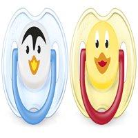 Philips Avent Orthodontic Pacifier, 0-6 Months, Penguin/Duck - 2 Counts