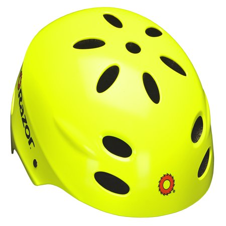 - Razor V17 Youth, Multi-Sport Helmet, Neon Yellow, For Ages 8-14