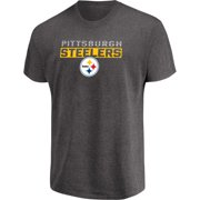 Men's Majestic Heathered Charcoal Pittsburgh Steelers Come Into Play T-Shirt