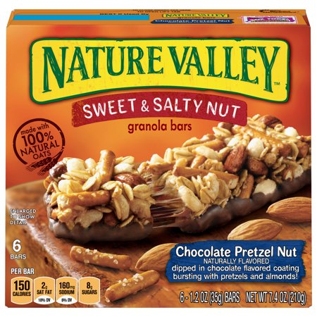 Nature Valley Granola Bars Sweet & Salty Chocolate Pretzel Nut 6