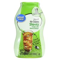 (2 Pack) Great Value Liquid No Calorie Stevia Sweetener, 1.68 fl oz