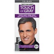 Just For Men Touch of Gray, Easy Men's Hair Color with Comb-In Applicator, Black, Shade T-55