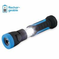 TORCHSTAR LED Flashlight, USB LED Flashlight, Rechargeable Flashlight, LED Work Light