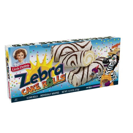 Little Debbie Zebra Cake Rolls, 6 count, 13.10 oz
