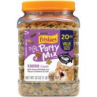 Friskies Party Mix Kahuna Crunch Adult Cat Treats, 20 oz. Canister