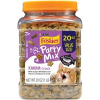 Friskies Party Mix Kahuna Crunch Adult Cat Treats, 20 oz. Canister