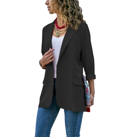 Utility Blazer - Stylish Fashion Women Long Sleeve Cardigan Casual Lapel Blazer Suit Jacket Top Coat Outwear