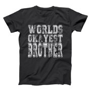 World Okayest Brother 5X-Large Black Basic Men's T-Shirt
