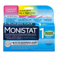 Monistat Complete Therapy Vaginal Antifungal Day or Night Ovule Combination Pack, 0.32 oz