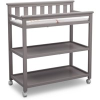Delta Children Flat Top Changing Table with Casters, (Choose Your Color)