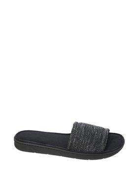 DF by Dearfoams Men's Knit Slide Slipper