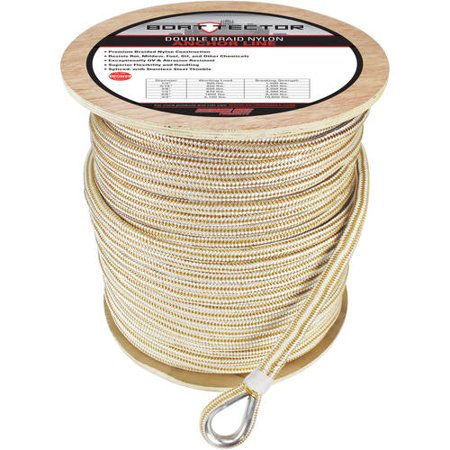 - Extreme Max BoatTector Premium Double Braid Nylon Anchor Line with Thimble, Available in multiple sizes