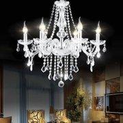 Costway Elegant Crystal Chandelier Modern 6 Ceiling Light Lamp Pendant Fixture Lighting