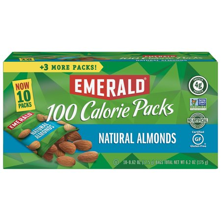 Emerald Nuts Natural Almonds, 100 Calorie Packs, 10 Ct 100 Calorie Snack Pack